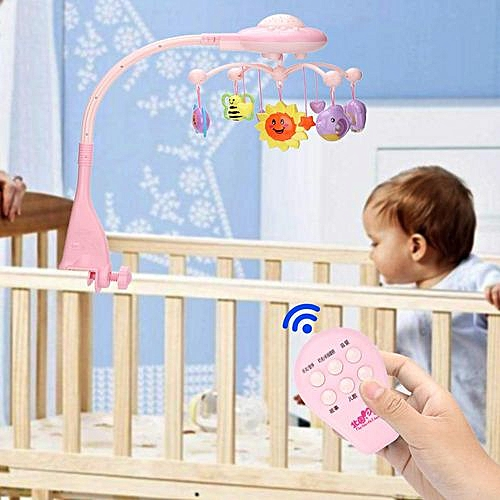 【Time-limited Promotions】Mobile Music Bed Bell Hanging Rotating Projecting Baby Educational Toy Newborn Gift