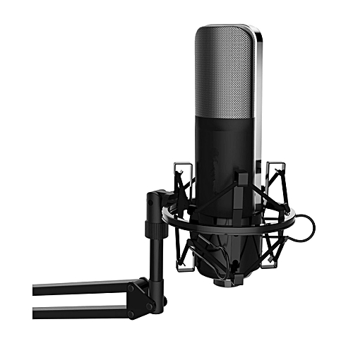 Professional Cardioid Condenser Studio Microphone With Shock Mount Holder For YouTube Vocal Recording, Singing, Broadcasting