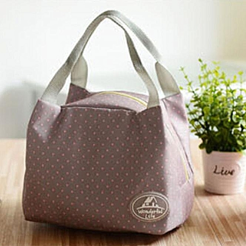 Portable Lunch Bag Tote Picnic Insulated Cooler Zipper Organizer LunchBox