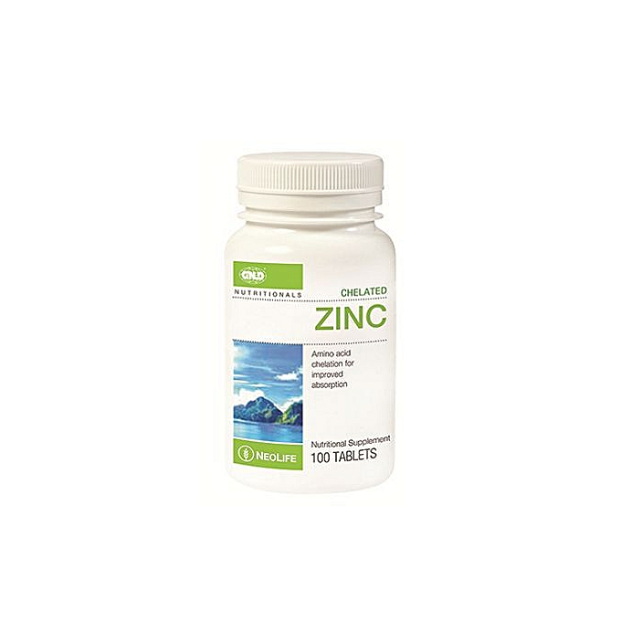 Chelated Zinc - 100 Tablets
