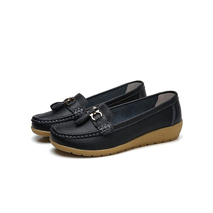 Fashion Women Fashion Leather Black Boat Shoes Jumia Com Ng