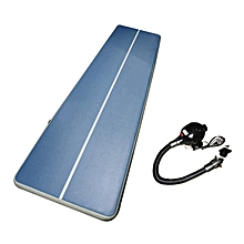 UJ 6M Inflatable Gym Mat Air Floor Tumbling Track Gymnastics Cheerleading Pad-blue & White-blue & White