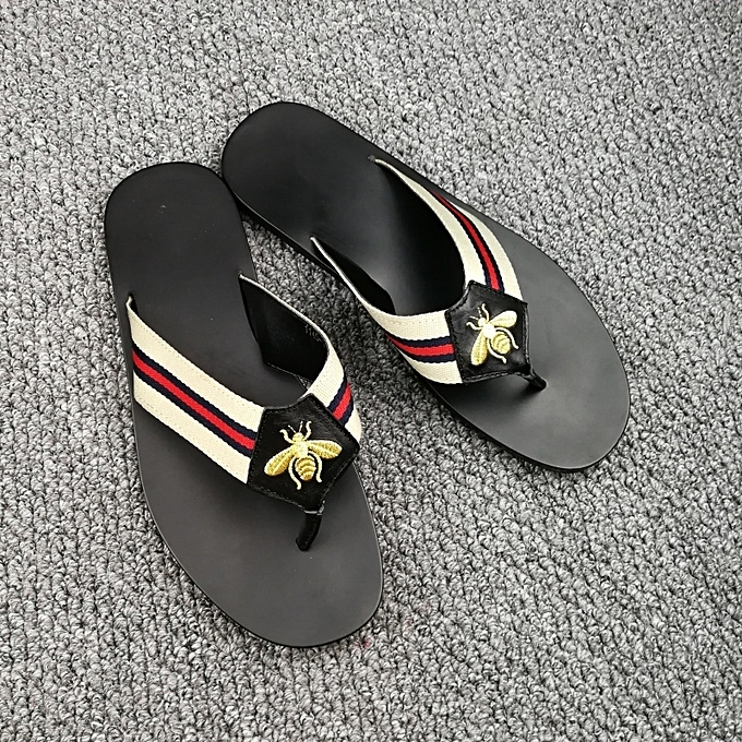 7ef2c8ae141904 New Leisure Male Sandals Comfortable Summer Leather Slippers Men Size 38-46  Black ...