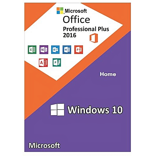 Windows 10 Home + Office 2016 Professional Plus CD Keys Activation Pack