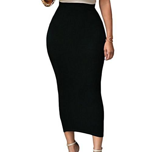 High Waisted Bodycom Skirt - Black