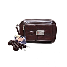7f2f0f9f410 Men  039 s Leather Clutch Bag - Brown