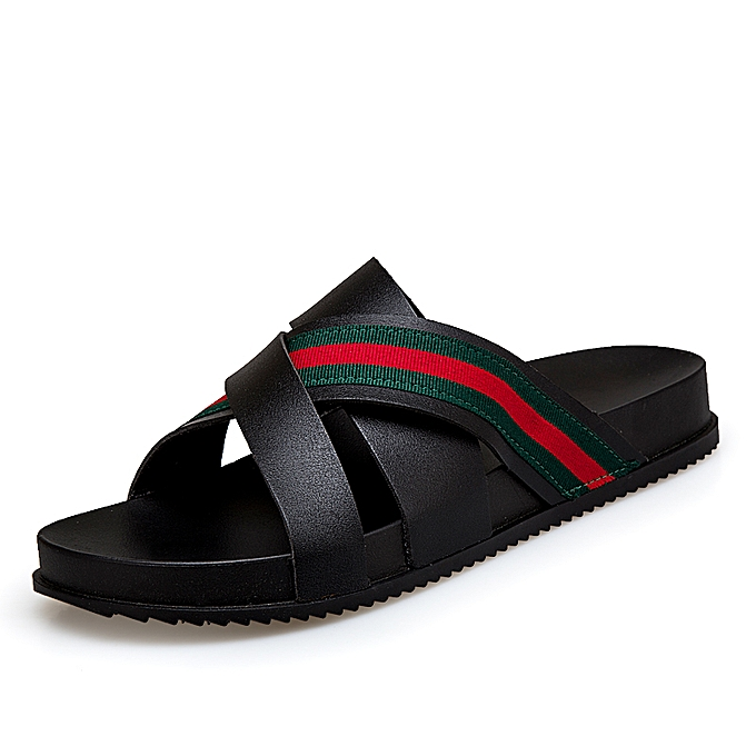 c913d152078b OE Fashion Mens Summer Open Toe Casual Beach Sandals 3 Strap Slipper ...