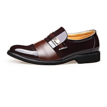 Men Shoes PU Leather Office Business Splice Sleeve Shoes