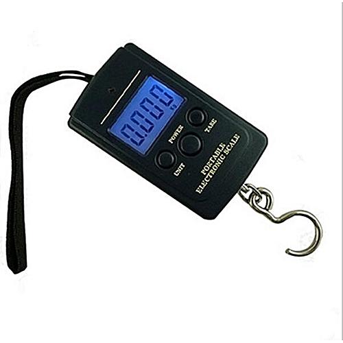 Pocket Electronic Digital Scale 0.01kg * 40kg Hanging Luggage Weight Balance Steelyard Black Libra