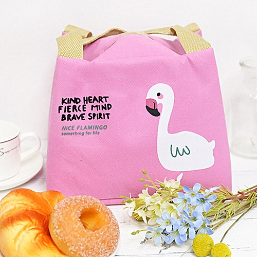 Outdoor Waterproof Flamingo Thermal Insulation Picnic Tote Food Lunch Box