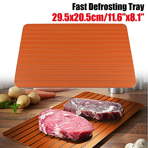 Fast Rapid Thawing Defrosting Tray Kitchen Safest Way Defrost Frozen Meat Food