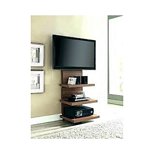 Top60 Carstock Brown Wall Tv Stand Shelf (Lagos Only)