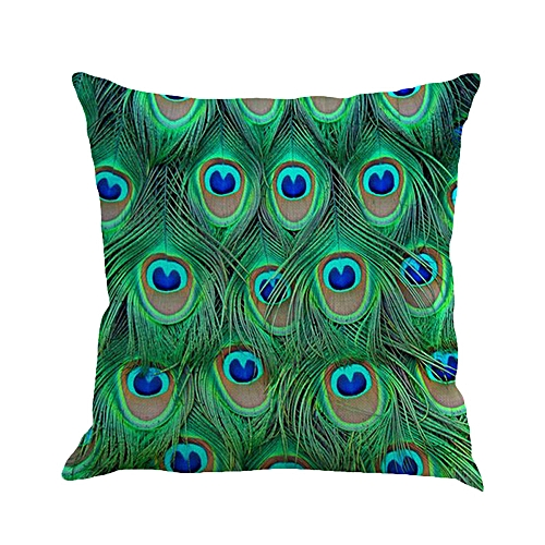 Africanmall Store Feather Sofa Bed Home Decoration Pillow Case Cushion Cover A- Multicolor