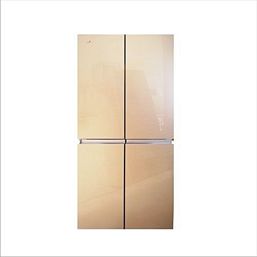 Side By Side Refrigerator Glass Gold Front Door 600 Liters Lagos Delivery Only