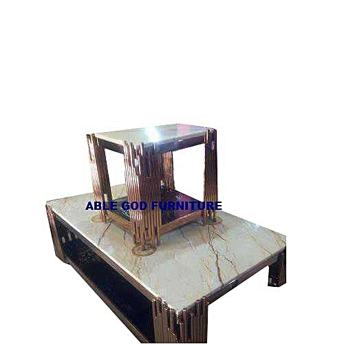 Marble Center Table Wih 2 Side Stools