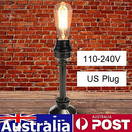Retro Industrial Table Lamp Water Iron Home Bedroom Floor Light Loft Decor Bronze Color