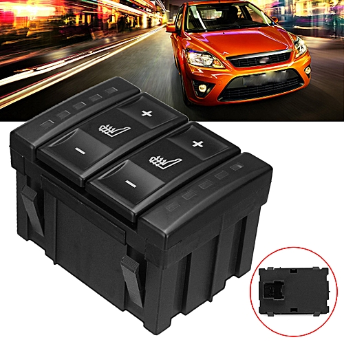 Black Seat Heating Button Heated Switch Control For Ford Mondeo MK3 S-MAX New