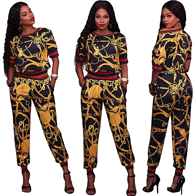 0898133003947 Womens Tracksuit Sets O Neck 2 Piece Short Sleeve Letter Print Jogger Plus  Size Summer Sweatpants