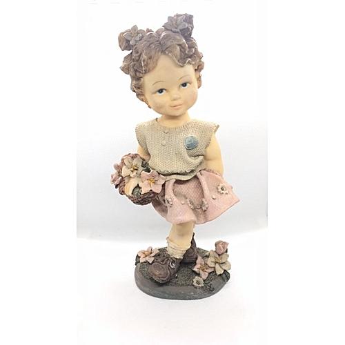 Figurine : Girl With Pink Basket