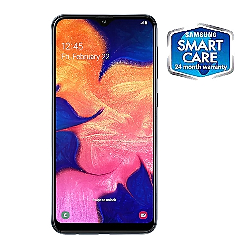 Galaxy A10 6.2-Inch (2GB RAM, 32GB ROM) Android 9.0,13MP Rear Camera + 5MP Front, 4G LTE Smartphone