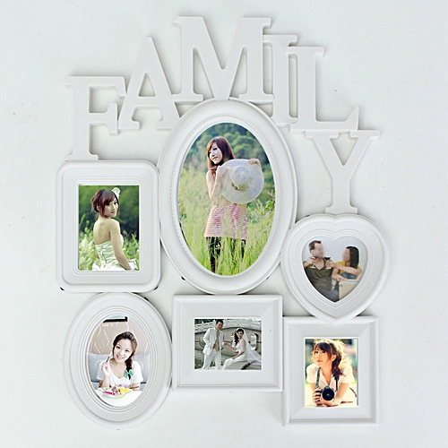 Warm Family Photo Frame Wall Hanging Picture Holder Display Home Bedroom Decor