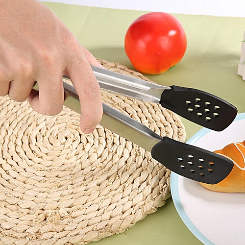 Stainless Steel Kitchen BBQ Utility Cooking Heat Resistant Tongs