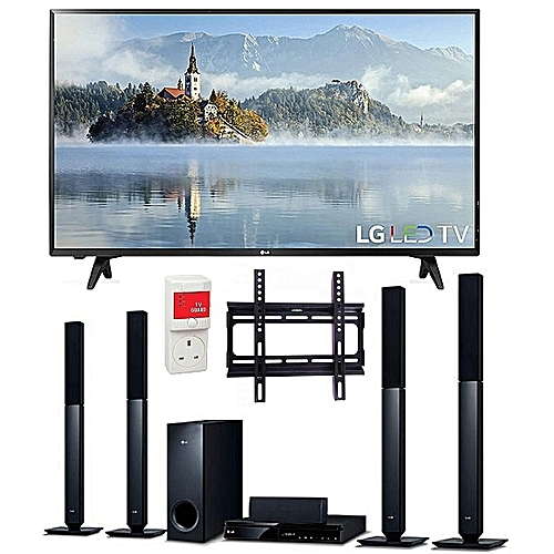 43-Inches FULL HD Digital LED TV & Bluetooth DVD Home Theatre With HDMI -  LHD457B + Free Wall Mount & Surge