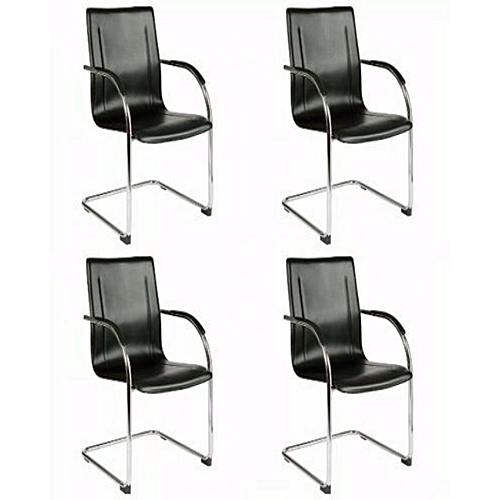 Conference And Visitors Leather Office Chair - Pack Of 4