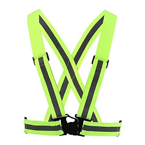 Reflective Vest Adjustable Elastic Safety Vest Strap For Running Cycling Jogging Sport Vest