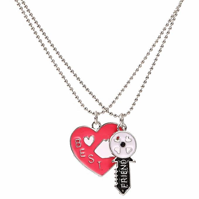 Anniversary sale buy sunshine 2pcs children best friends heart key 2pcs children best friends heart key pendants chain necklace puzzles jewelry mozeypictures Choice Image