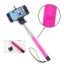 Selfie Stick With Inbuilt Bluetooth Shutter - Pink