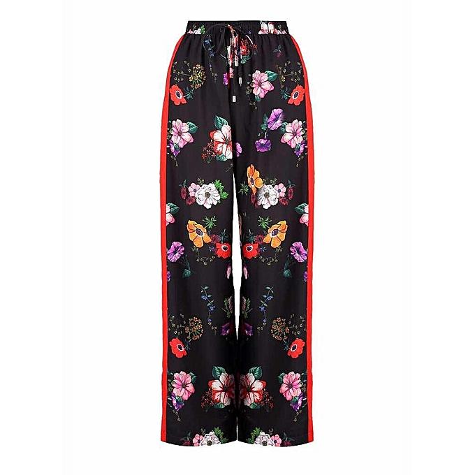 da876c22809b Boohoo Emily Floral Contrast Panel Wide Leg Trousers | Jumia NG