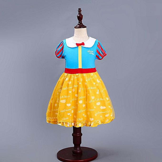 a0860d454fae2 Kids Girls Dresses Snow White Princess Dresses Party Costume Summer Dress  High Quality