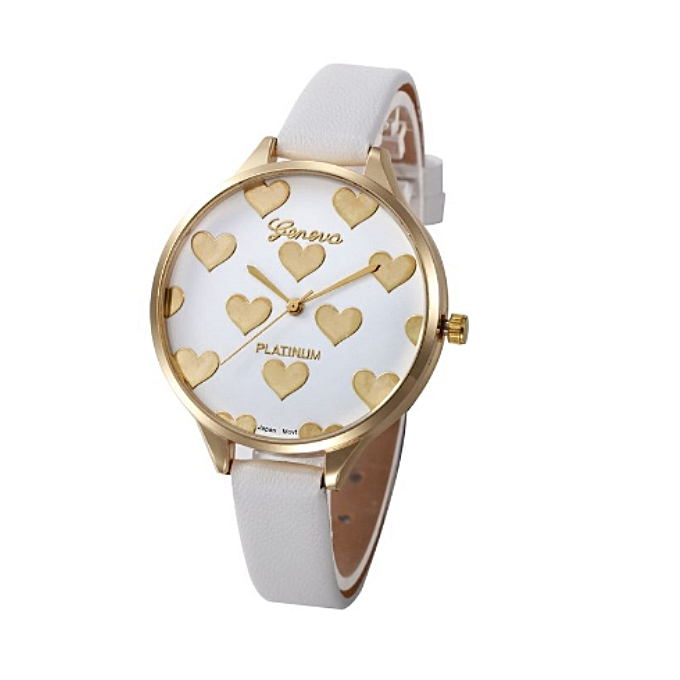 Geneva Women's Faux Leather Analog Quartz Wristwatch