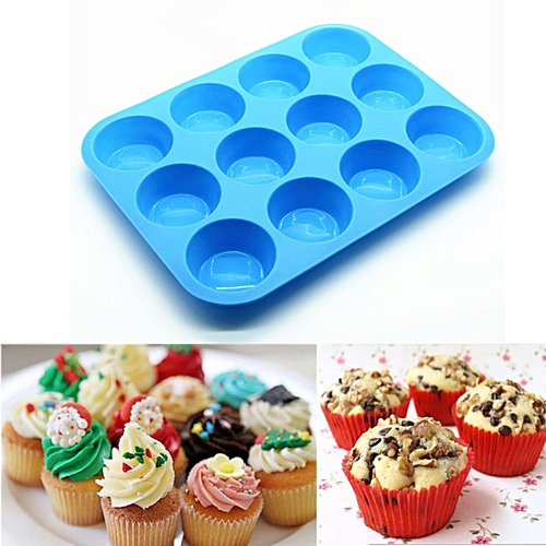 Silicone Muffin Cupcake Baking Pan Non Stick Dishwasher