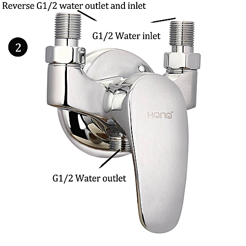 Bathroom Copper Unfold Install Water Heater Mixing Valve Hot And Cold Water Faucet Switch