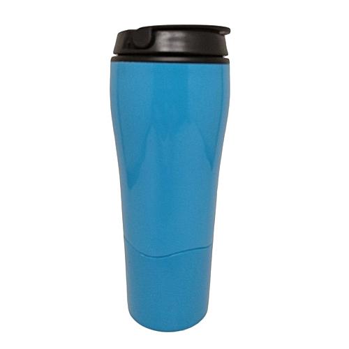 Tumbler Mighty Sucker Mug Water Bottle Bottom With Sucker For Office Home*Blue