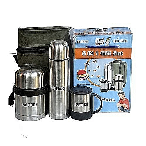 5 IN 1 Set Stainless Steel Food Flask
