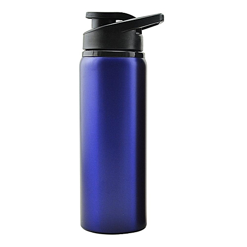 Generic 700ml Portable Stainless Steel Heat Preservation Water Bottle Outdoors Sports Jug For Mountain Camping Riding Color:blue Volume:700ML