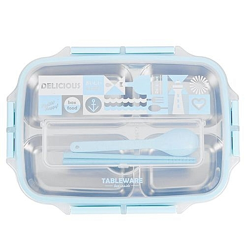 Bento Lunch Box 4 Section Leakproof School Picnic Food Container Lunchbox