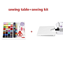 Mini Electric Handheld Sewing Machine Dual Speed Adjustment With Light Foot AC100-240V Double Threads Pendal Sewing Machine(Table And Kit) for sale  Nigeria