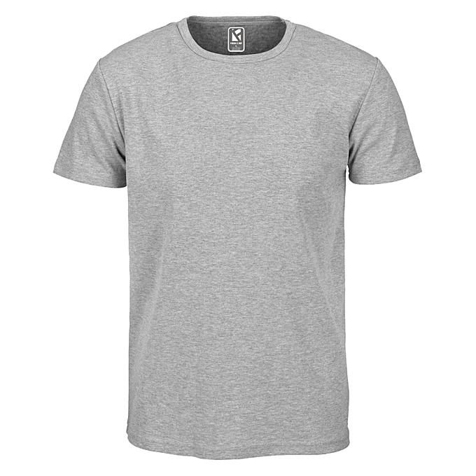 922a1bc5229 F2D Men s Plain Grey T-Shirt