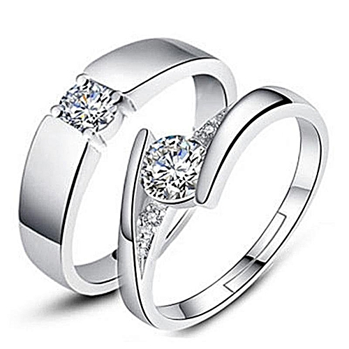 Couple Ring Jewellry 925 Silver Adjustable Ring 2 PCS E007