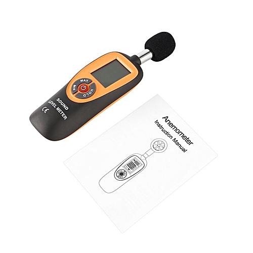 Generic ta-ht-90a Mini Sound Level Meter lcd Display 30 130dB Noise Decibel Monitoring*Orange Black