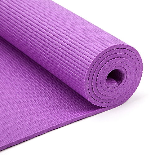 Yoga Mat With Carrier Bag Moisture Resistance - Purple