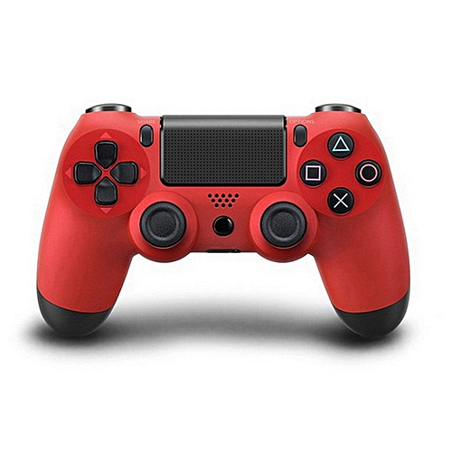 Bluetooth Wireless PS4 Controller For PS4 Vibration Joystick Gamepad PS4 Game Controller Color:Red