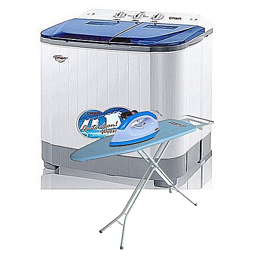 Washing Machine - 8.8kg - With Free Iron ,ironing Board And Omo