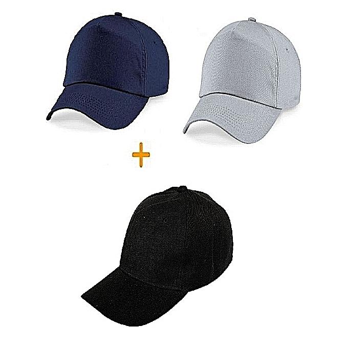 3c15daee6da Fashion 3 Packs Of Unisex Dope Face Caps - Navy Blue