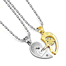 Mens chains and necklaces buy online jumia nigeria best couple chain necklaces pendant lover valentine039s gift 1pair mozeypictures Image collections