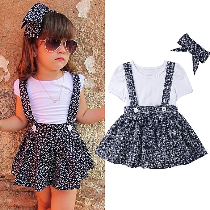 621309135 Fashion Newborn Baby Girls Tops Romper+Tutu Skirt+Headband Outfit ...